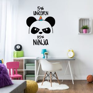 panda ninja wall sticker