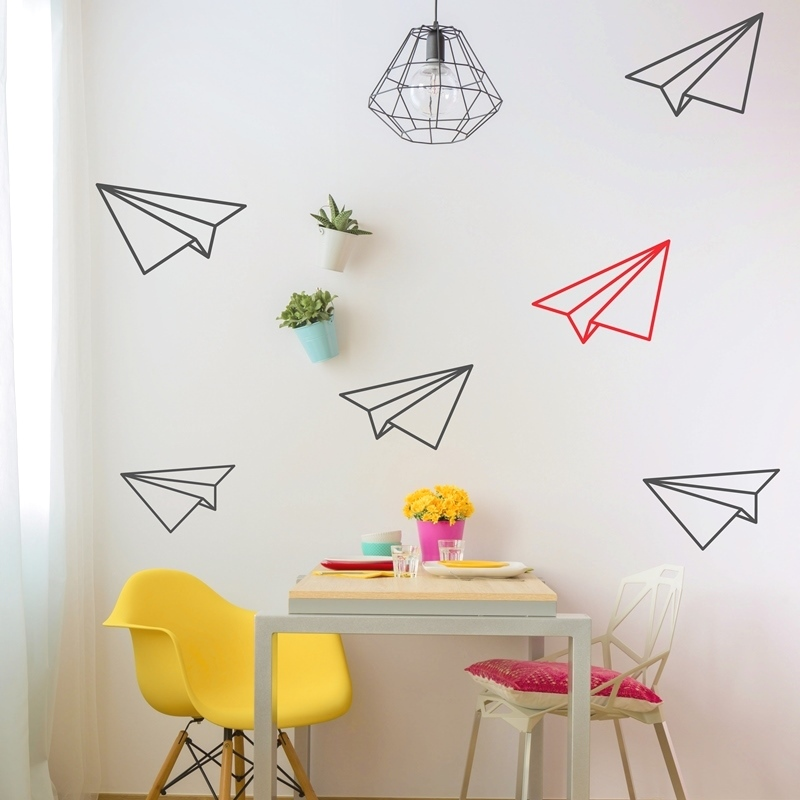Paper planes r300 00 r860 00 these paper plane wall stickers